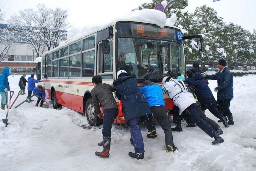 Tottori Governor Shinji Hirai said there were roughly 240 cars unable to move at 7.30am (6.30am Singapore time).