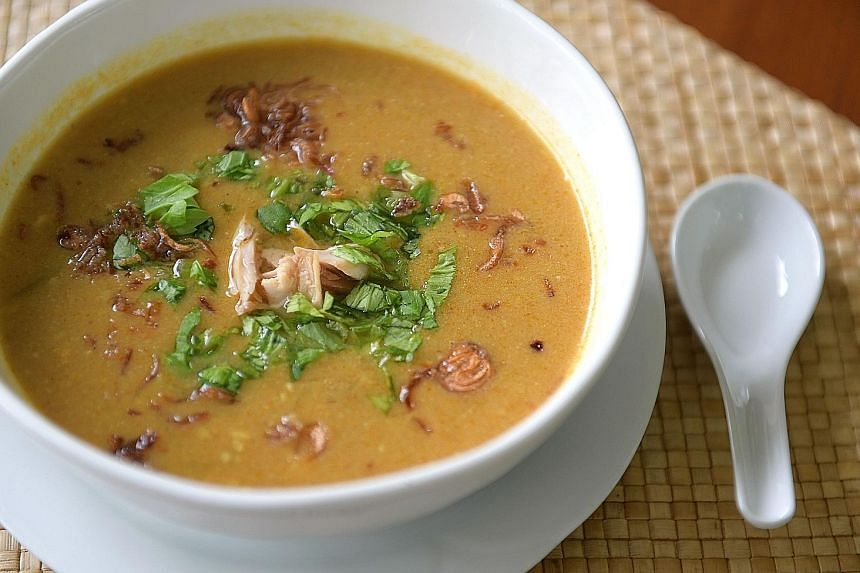 You can use coconut milk to thicken the soup or red lentils to add more flavour.