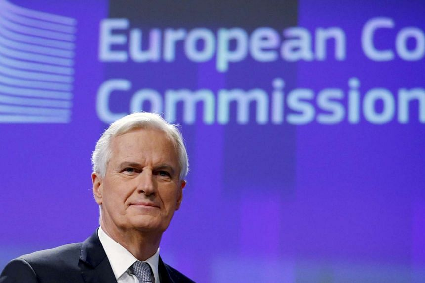 Michel Barnier, Chief Negotiator for the Preparation and Conduct of the Negotiations with the United Kingdom under Article 50 of the Treaty on European Union, holds a news conference at the EU Commission headquarters in Brussels, Belgium, on Dec 6, 2