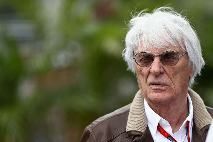 This file photo taken on Oct 27, 2016 shows then Formula 1 chief executive Bernie Ecclestone in the Paddock during previews to the Formula One Grand Prix of Mexico at Autodromo Hermanos Rodriguez in Mexico City.
