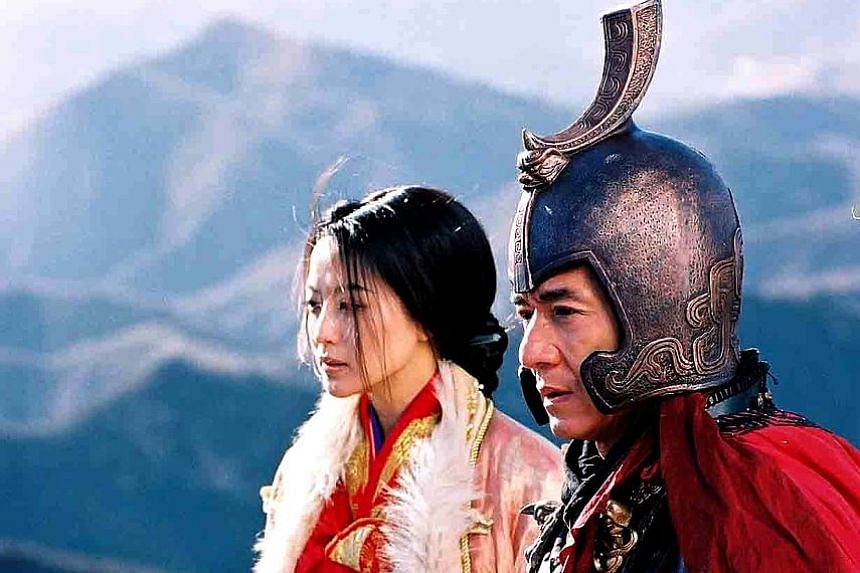 Chan (above, with co-star Kim Hee Sun).