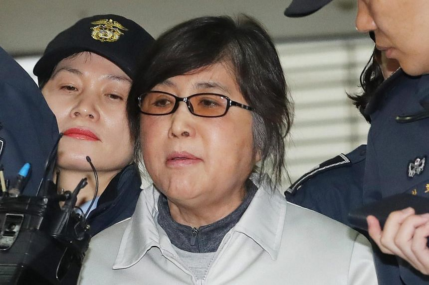 Choi Soon Sil arriving at the office of special prosecutors in Seoul, South Korea, on Jan 25, 2017.