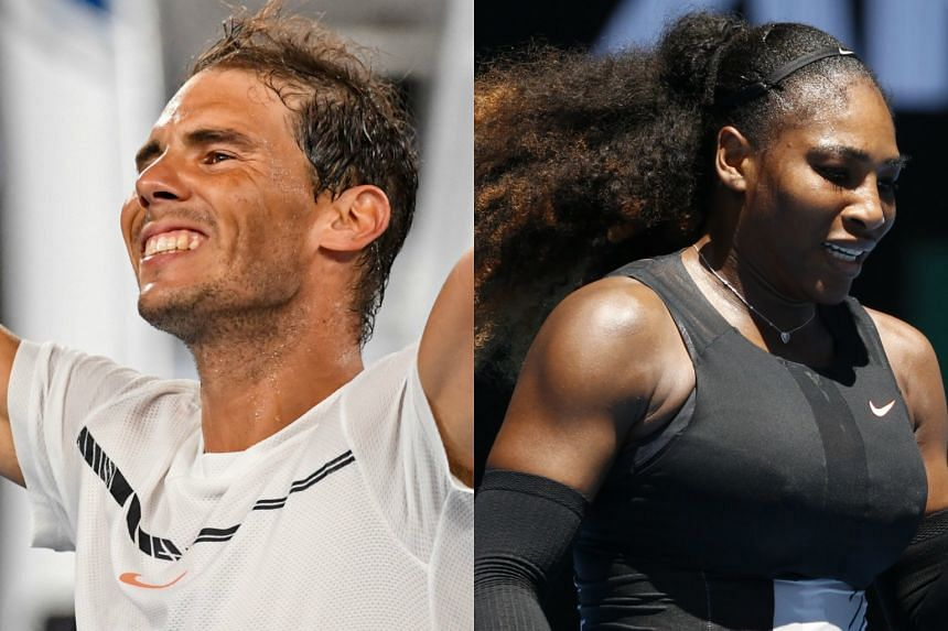 Rafael Nadal (left) and  Serena Williams will be facing tough challenges at the Australian Open.
