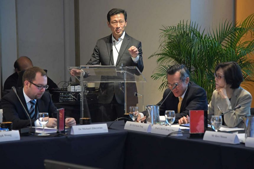 Mr Ong speaking at a roundtable organised by the Lee Kuan Yew Centre for Innovative Cities yesterday. The heart of the Committee on the Future Economy, he said, is not just a thriving economy, but making sure every Singaporean shares the benefits of