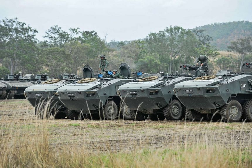 The SAF's Terrex infantry carrier vehicles are designed and made in Singapore. Hong Kong Customs said yesterday that the seizure of nine Terrex vehicles last November was ''because there was a suspected breach of the Hong Kong law''.