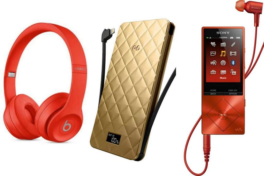 Some great Chinese New Year themed gifts to give your loved one this year include the Beats Solo3 Wireless Special Edition (Product) Red headphones (left), iWalk Extreme Trio 10000 (centre) and the Sony Walkman NW-A26HN.