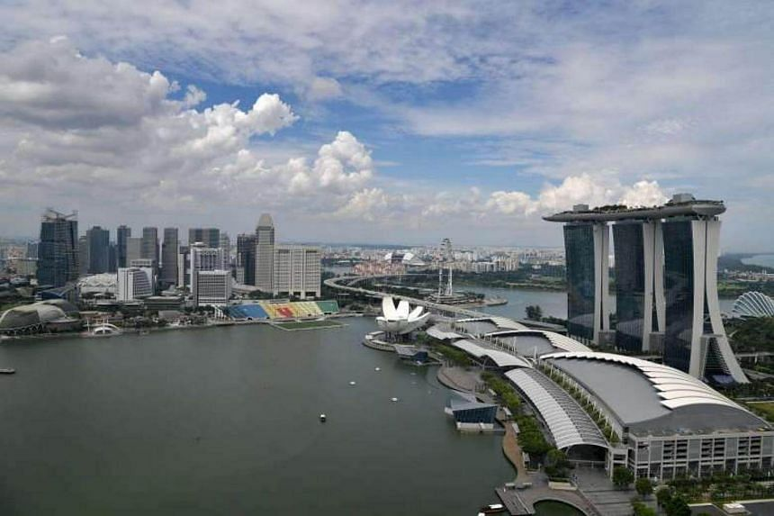 A view of the Marina Bay area.