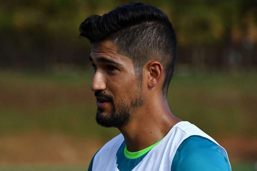 The new Chapecoense footballer Tulio de Melo attends a training session at the Agua Amarela training centre in Chapeco, Santa Catarina state, in southern Brazil on Jan 19, 2017.
