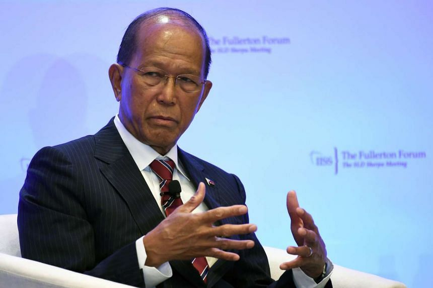 Intelligence from allies showed a leader of the Abu Sayyaf militant group trying to spread into new areas of the Philippines upon the instruction of ISIS, according to Defence Secretary Delfin Lorenzana (above).