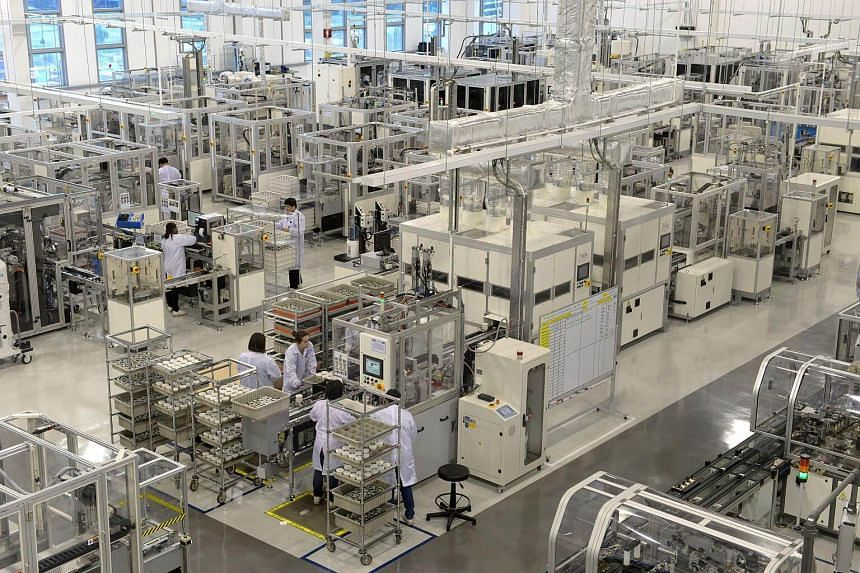 The Dyson advanced motor manufacturing facility in Singapore.