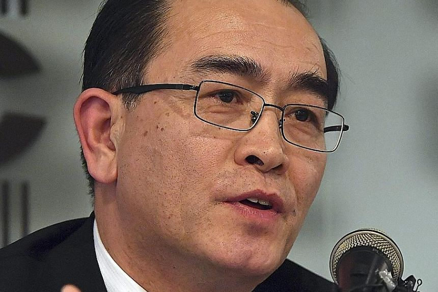 Mr Thae was North Korea's deputy ambassador to London when he defected.