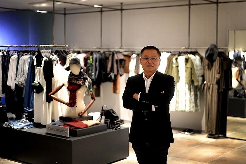 Urban Revivo vice-president Raymond Ngoh at its Raffles City store, which opened earlier this month and sells clothes and accessories for men and women.