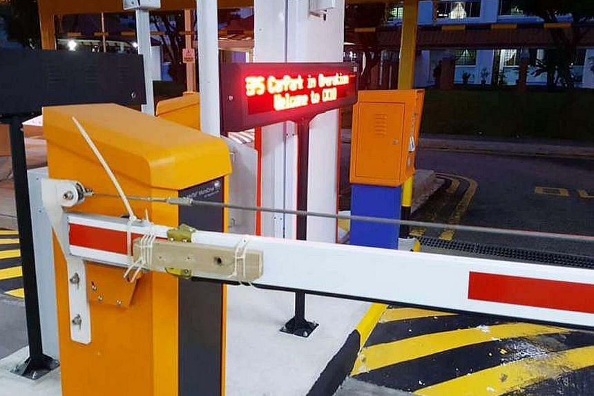 The HDB said service providers may sometimes use cable ties to reinforce parking barriers and prevent them from falling off, so that the Electronic Parking System will not be disrupted. The issue was first raised by a Shin Min Daily News reader, with