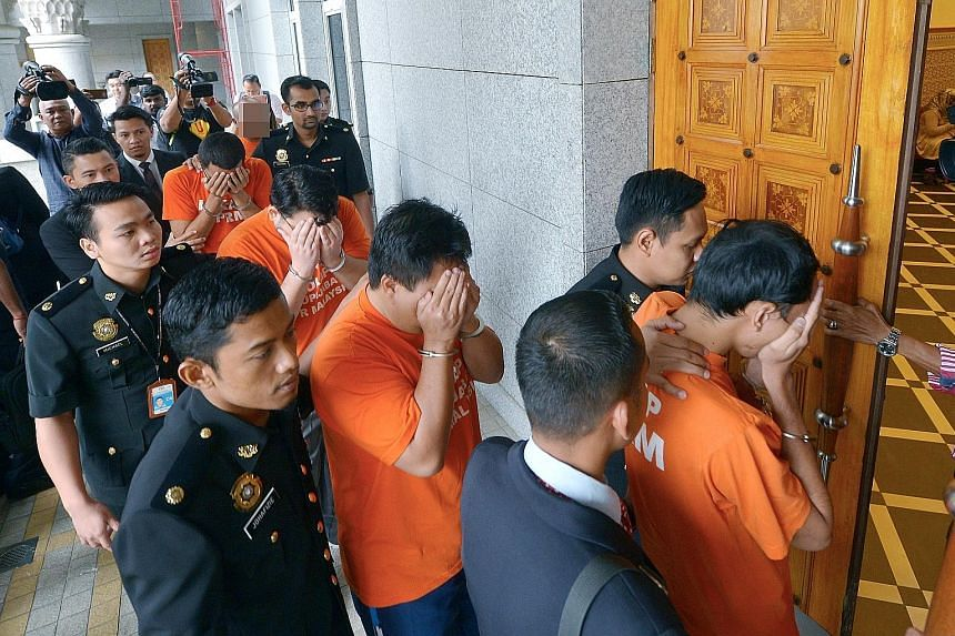 The five men arrested in connection with misappropriating funds in a Felda sturgeon-rearing deal were remanded yesterday for seven days to assist in investigations.