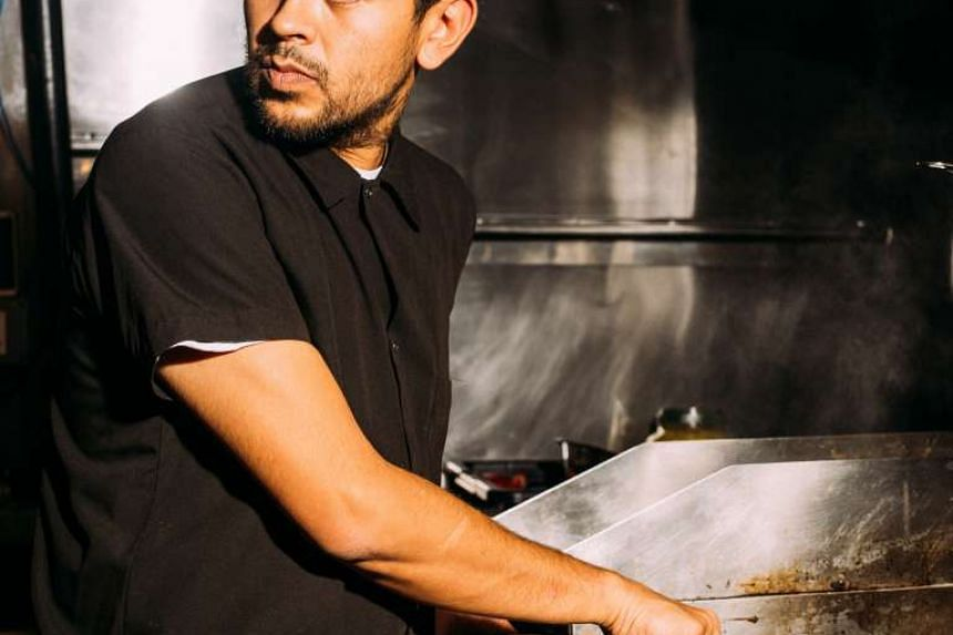 Gerardo Gonzalez was inspired by recipes from his childhood for his mole cooked with charred vegetables.