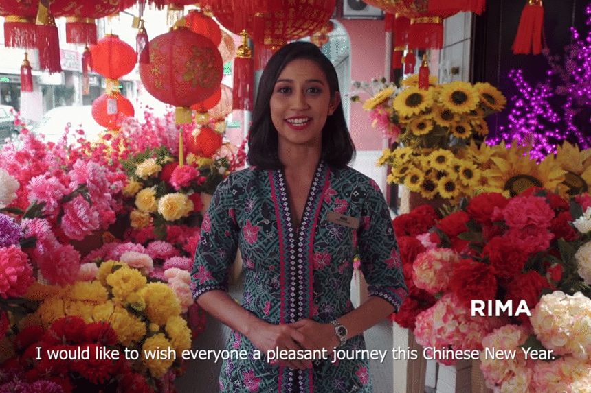 Malaysia Airlines released a Chinese New Year video showing non-Chinese Malaysians speaking in fluent Chinese.
