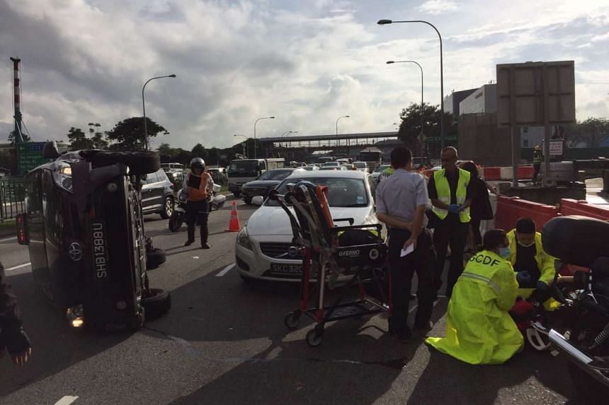 The accident happened on Jan 26, 2017, around 8.20am, said Mr Tan, and involved an SMRT taxi, a white Volvo and a motorbike.