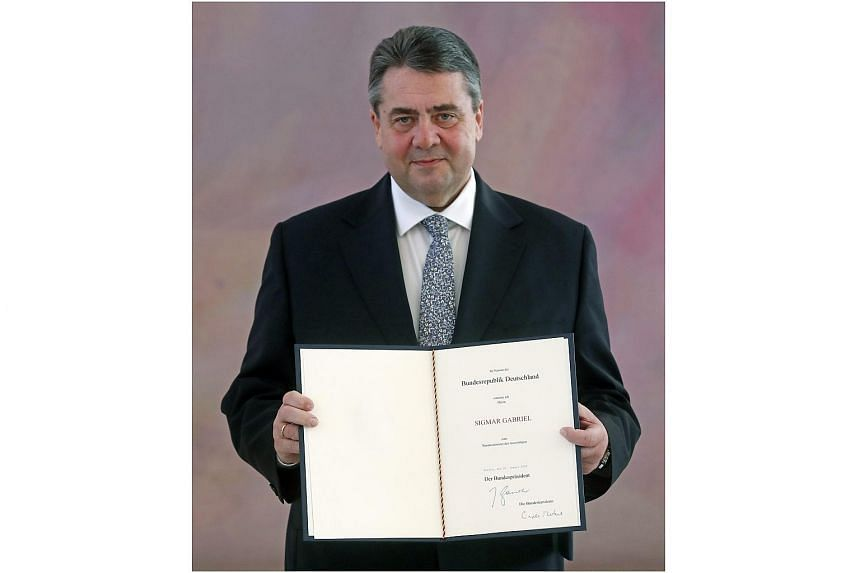 Social Democrat Sigmar Gabriel became Germany's new foreign minister.