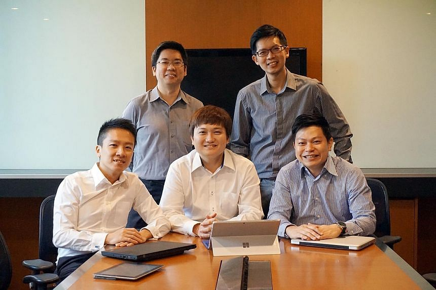 (From left) The new group's vice-president Wynn Khoo, treasurer Tony Chee, president Anthony Fok, secretary Gary Ang and vice-president Irwin See.