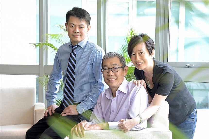 Mr Tan (centre) with his wife and Dr Tan. Two months after Chinese New Year last year, Mr Tan was told he had just weeks to live but the use of pembrolizumab by Dr Tan to treat his cancer turned things around and has kept Mr Tan alive for eight month