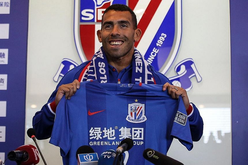 Argentina forward Carlos Tevez was signed up by Shanghai Shenhua and handed a huge salary to play in the Chinese Super League this year.
