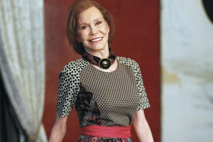 Mary Tyler Moore (above) in a 2011 photo taken at her home in Greenwich, Connecticut.