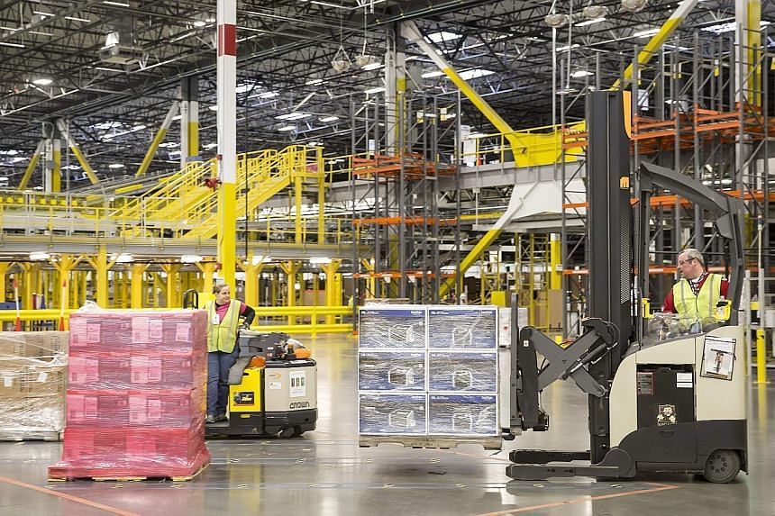 An Amazon Fulfilment Centre in Washington. Amazon shoppers have expressed their desire for the firm to accept PayPal.