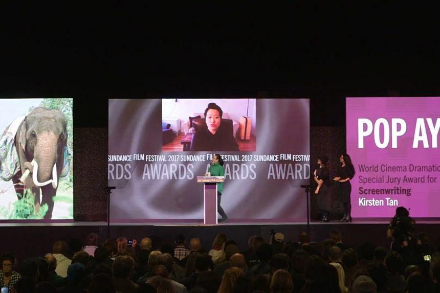 Singaporean film-maker Kirsten Tan's debut feature Pop Aye won a Sundance screenwriting award on Jan 29, 2017.