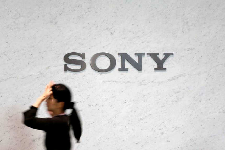 A logo of Sony Corp is seen at its headquarters in Tokyo.