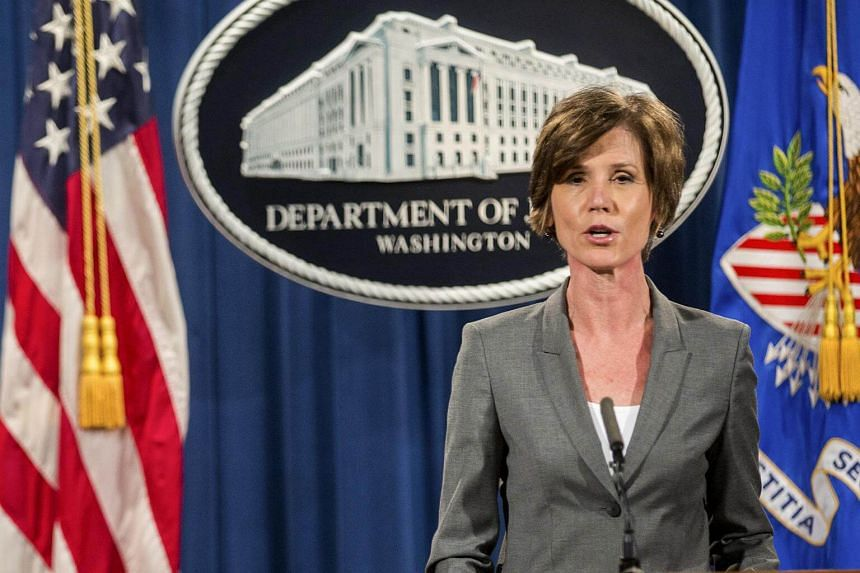 Sally Yates, who is now the acting attorney general, speaks during a news conference at the Department of Justice in Washington, on June 28, 2016.