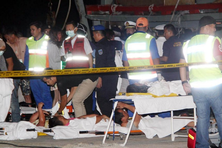 Survivors of the boat tragedy were rushed to the Queen Elizabeth Hospital in Kota Kinabalu for treatment.