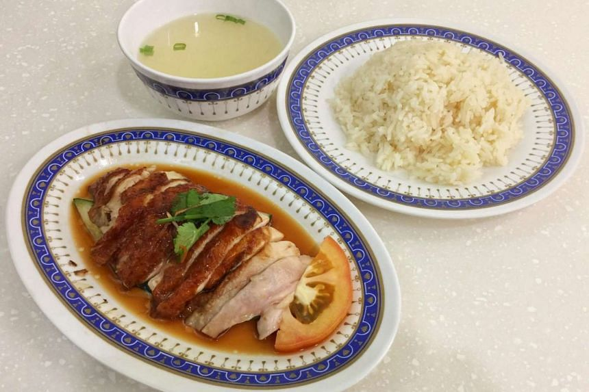 Lucky Chicken Rice offers both roast and steamed chicken.