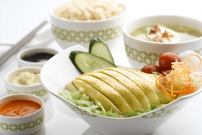 The Mandarin chicken rice, a re-imagined version of traditional chicken rice, is the signature dish of Chatterbox cafe in Mandarin Orchard.