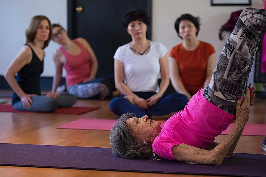 At 98 She Is The World S Oldest Yoga Teacher Lifestyle News Top Stories The Straits Times