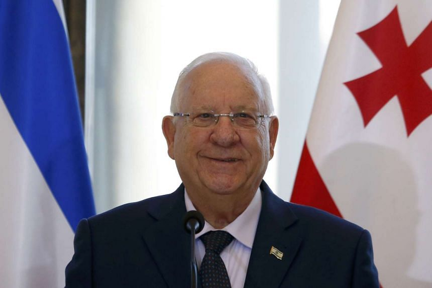 Israeli President Reuven Rivlin during a trip to Tbilisi, Georgia, Jan 9, 2017.