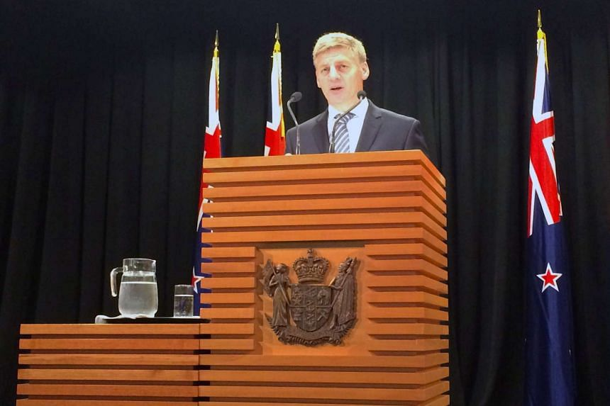 New Zealand Prime Minister Bill English speaks in Wellington, New Zealand, to announce the country's general election date.