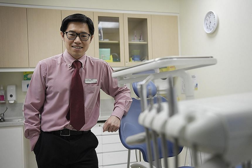 "Dr Lau said he had read about how acupuncture can ease pain in several conditions, such as neck and back strain. ""I realised the only way to further help patients was to go through the training."" Dr Wong, a dentist who has been an accredited acupunct"