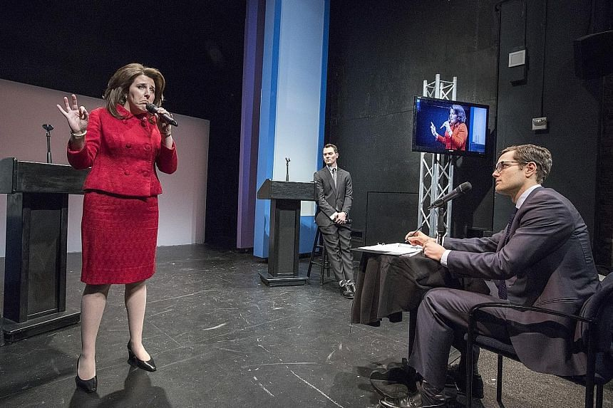 (From left) Rachel Tuggle Whorton, Daryl Embry and Andy Wagner in Her Opponent.