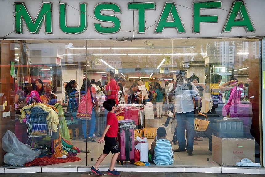Shoppers at the Serangoon Plaza branch of the famed Mustafa Shopping Centre were busy snapping up last-minute bargains yesterday, a day before the branch closes for good. The home-grown superstore - the first major retailer in Singapore to operate 24