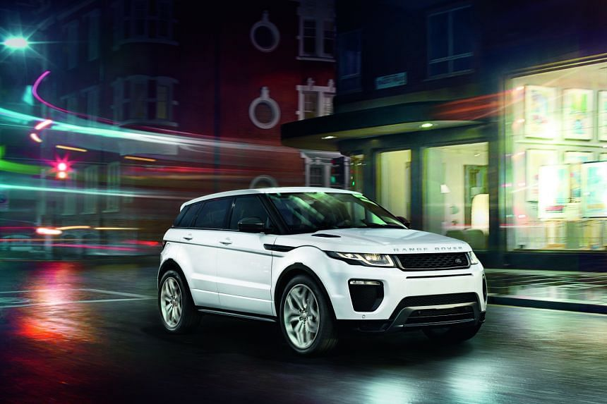 The Range Rover Evoque (above), a luxury compact SUV. Ten of these cars, as well as two Jaguars, will be used in a fleet that will ferry the ST Singaporean of the Year 2016 finalists to the award ceremony next Monday.