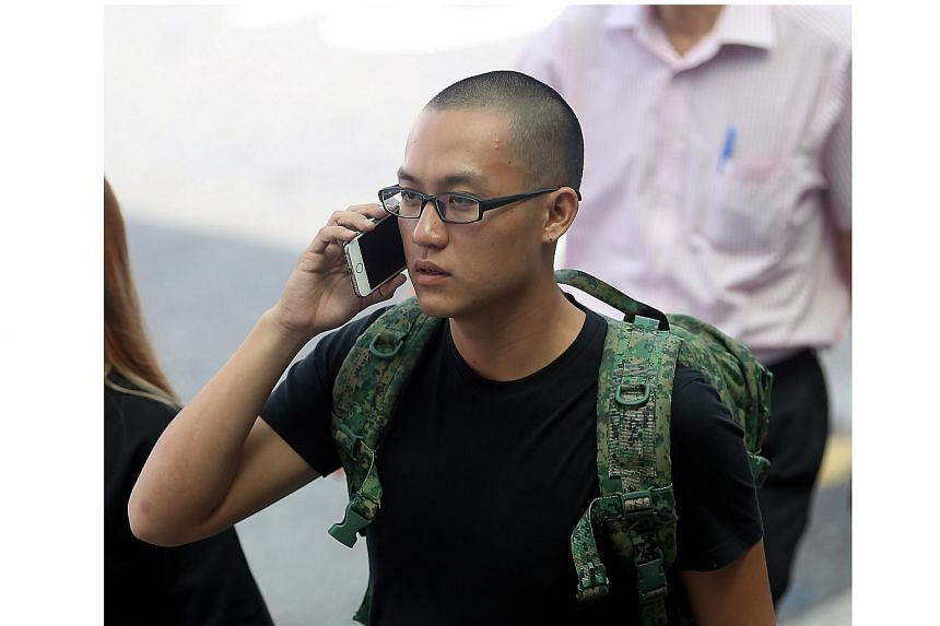 Bryon Loke Thong Ler outside the State Courts on Aug 18, 2016.