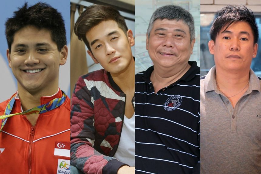 Finalists of The Straits Times Singaporean of the Year 2016 include (from left) Joseph Schooling, Nathan Hartono, John Shu and Jabez Tan.