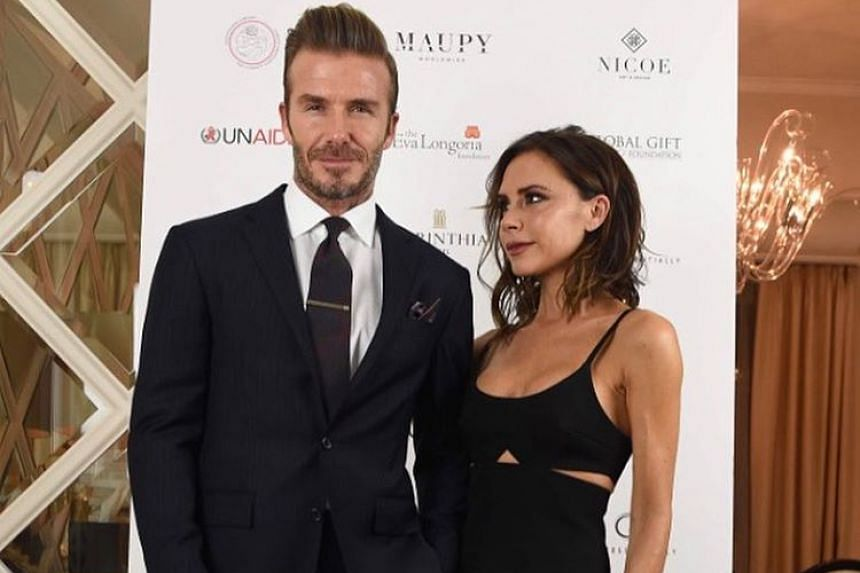 David and Victoria Beckham in a photo from her Instagram page.