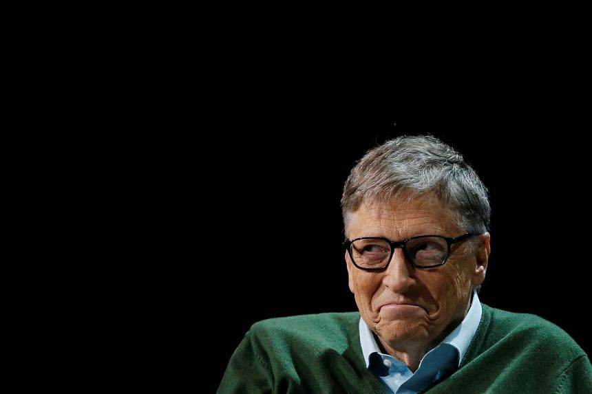 Bill Gates at a Columbia University dialogue in New York, Jan 27, 2017.