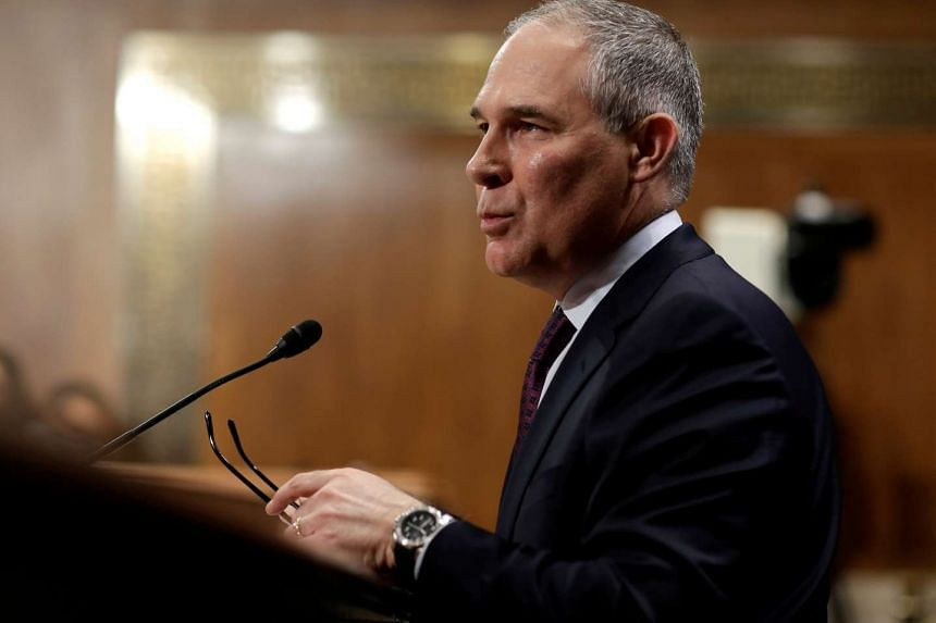 Oklahoma Attorney General Scott Pruitt testifies before a Senate Environment and Public Works Committee confirmation hearing on his nomination to be administrator of the Environmental Protection Agency in Washington, US on Jan 18, 2017.