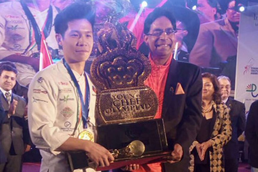 Homegrown chef Mathew Tham, 24, has been named the champion of the third edition of the international IIHM Young Chef Olympiad 2017.