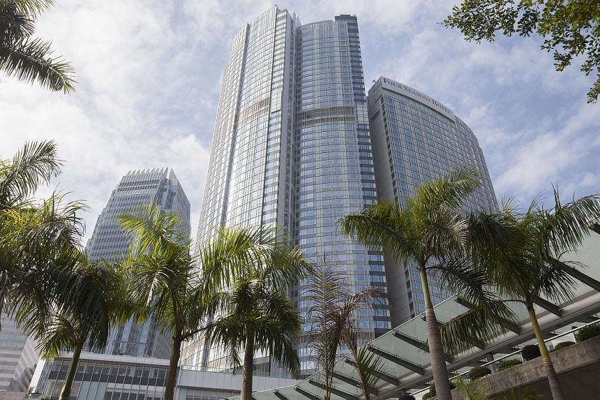 The five-star Four Seasons Hotel, where Mr Xiao is said to have been staying before his disappearance last Friday.