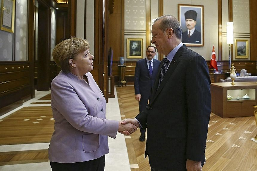 Dr Merkel and Mr Erdogan's meeting takes place amid strained relations in the wake of the July 15 failed coup.