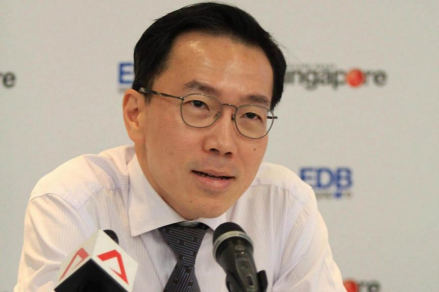 Singapore Economic Development Board chairman Beh Swan Gin at the 2016 year in review press conference on Feb 2, 2017.