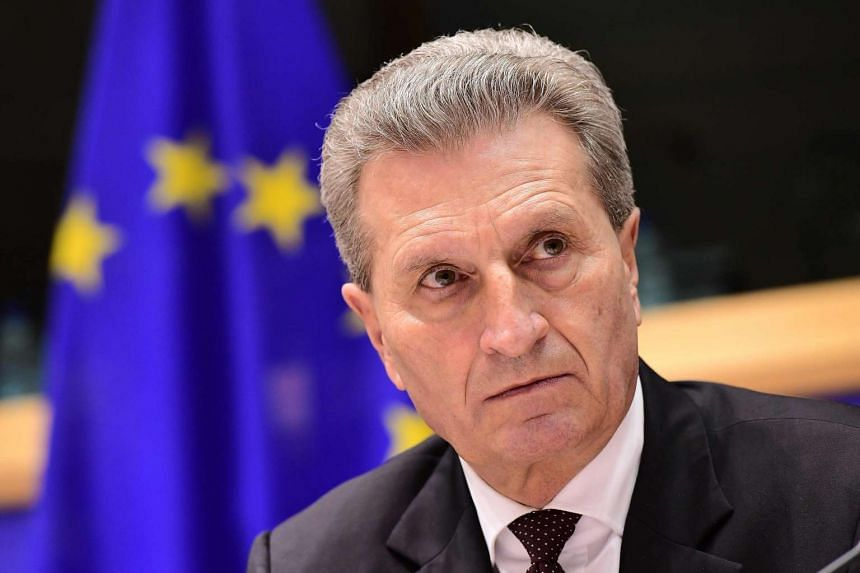 """European Commissioner Guenther Oettinger said the EU must not succumb to what he calls US President Donald Trump's """"game of divide and rule""""."""